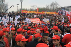 1 de mayo en Taksim, Estambul Fotografía de archivo libre de regalías