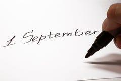 1 de septiembre Fotos de archivo