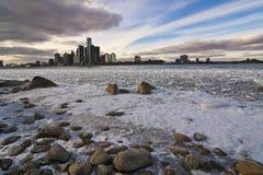 1 detroit flod Fotografering för Bildbyråer