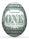 1 dollar back side banknote egg. 1 dollar back side banknote in shape of egg Stock Photo
