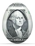 1 dollar banknote egg. Royalty Free Stock Photo