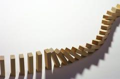 1 dominoeffekt Arkivfoto