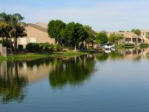 1 domy jeziorni Fotografia Royalty Free