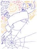 1 doodles αποκριές Στοκ εικόνα με δικαίωμα ελεύθερης χρήσης