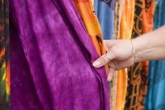 1 dotykania tkaniny Obraz Royalty Free