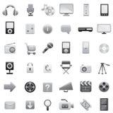 (1) duży ikony ustawiają sieć Obrazy Stock