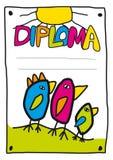 (1) dyplomu dzieciaki Zdjęcie Stock