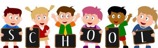 1 dziecko do szkoły ilustracja wektor