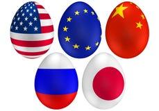 (1) Easter jajek flaga Obrazy Royalty Free