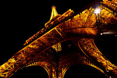 (1) Eiffel noc wierza Zdjęcie Stock