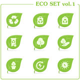(1) ekologii ikony setu wektor vol royalty ilustracja