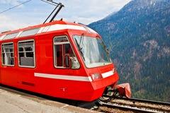 1 eleectric красный поезд Швейцарии Стоковые Изображения