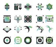 1 elementsymbolsvektor Royaltyfri Bild