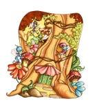 (1) elfów bajki gnomy royalty ilustracja