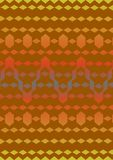 1.Embroidery a lace. An embroidery a lace, brown color, on a dark red background royalty free illustration