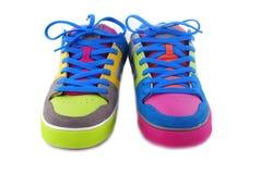 1 emo в стиле фанк изолированные 2 ботинка Стоковые Изображения