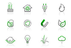 1 enkla ekologimiljösymbolsserie Royaltyfria Foton