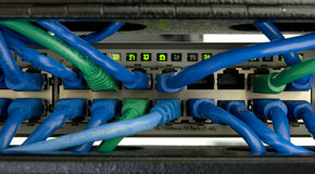 1 Ethernetströmbrytare Arkivfoton