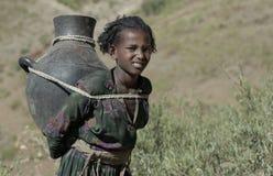 1 ethiopian flicka Arkivbilder