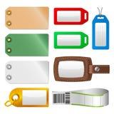 (1) etykietek bagażu ustalone etykietki Obrazy Stock