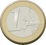 1 euro Zdjęcie Stock