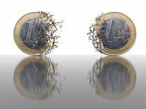 1 Euro-Brechen - abstrakter Hintergrund lizenzfreies stockfoto