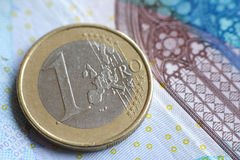 1 Euro coin Royalty Free Stock Image