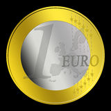 1 Euro Coin stock photos