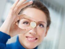 1 euro- moeda Imagens de Stock