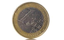 1 euro moneta Immagine Stock Libera da Diritti
