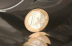1 euro moneta Immagini Stock