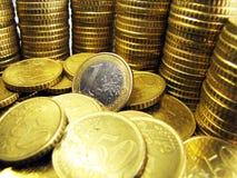 1 euroinvestering Arkivbilder