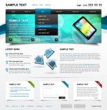 1 för mallvariant för 4 färg redigerbara website Royaltyfria Bilder