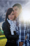 1 för par romantiker utomhus Arkivbild