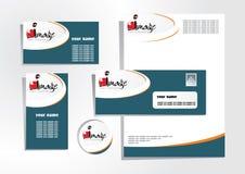 1 företags identitet Arkivbild