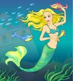 1 fairy сказ mermaid Стоковое Фото