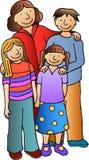 1 familj royaltyfri illustrationer
