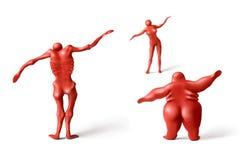 1 fatless fatnesskondition Arkivbild