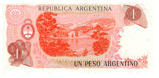 1 fattura del peso dell'Argentina Fotografie Stock Libere da Diritti
