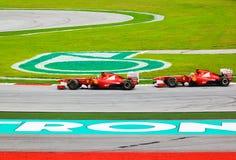 (1) Ferrari formuły gp Malaysia drużyna Zdjęcia Stock