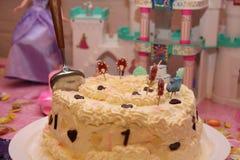 1 festa de anos do bebê dos anos de idade Fotografia de Stock Royalty Free