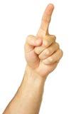 1 fingerpunkt Royaltyfri Foto