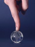 1 fingerspets Arkivbild