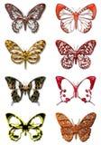 1 fjäril vektor illustrationer
