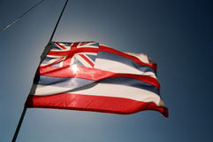 1 flagga hawaii Fotografering för Bildbyråer