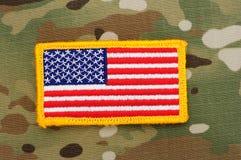 1 flagga patch oss Royaltyfri Fotografi