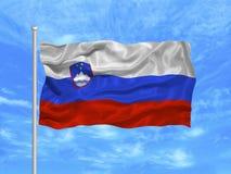 1 flagga slovenia Royaltyfri Bild