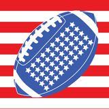 1 flaggafotboll USA Royaltyfri Foto