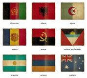 1 flaggaset royaltyfri illustrationer