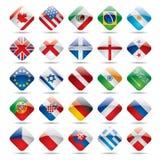1 flaggasymbolsvärld Royaltyfri Bild